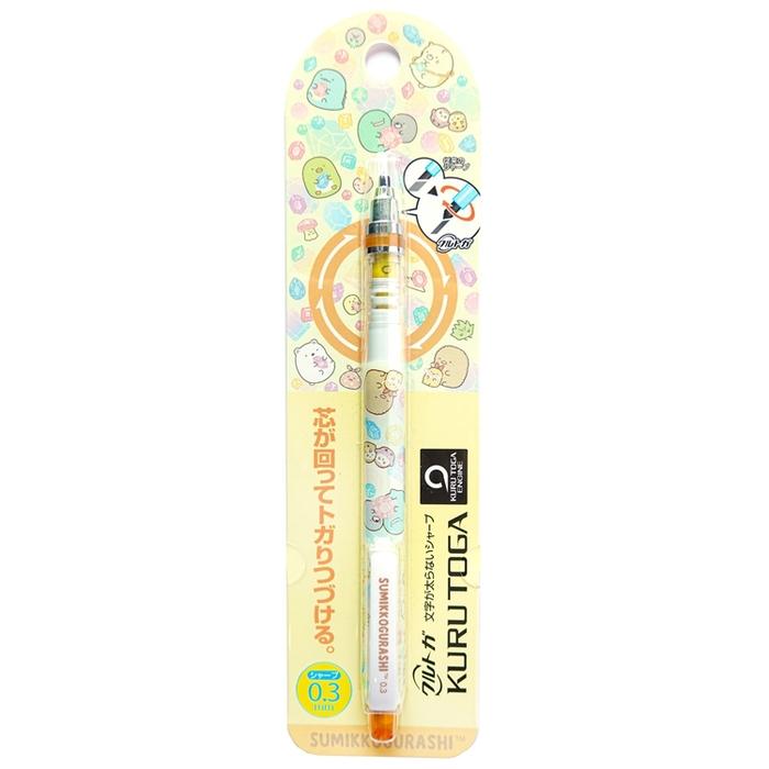 日本San-X|UNI不斷芯自動鉛筆KURU TOGA角落生物0.3mm鉛筆 ( PH01701 )