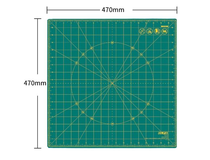 日本OLFA 可360度旋轉切割墊板 美工作墊 (17吋X17吋;RM-17S)