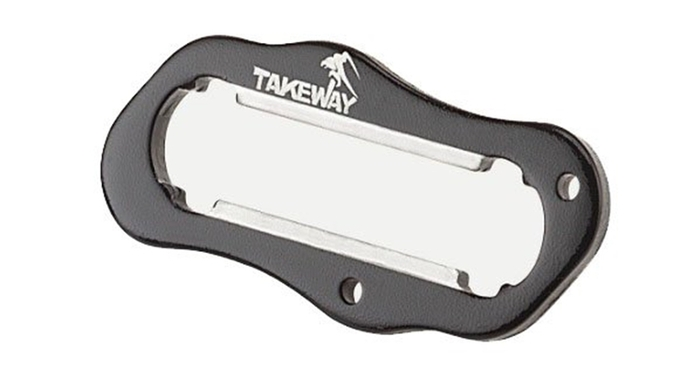 TAKEWAY|極限運動夾和黑隼Z手機座LA3系列用防盜手把 ( T-H03;黑色;附鑰匙圈 )