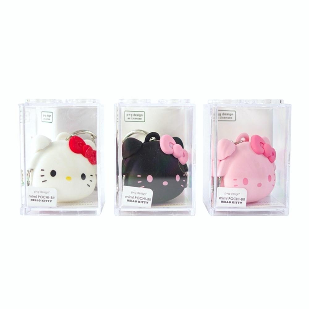 日本p+g design 矽膠mini POCHI-Bit零錢包;PG-3410系列凱蒂貓Hello Kitty