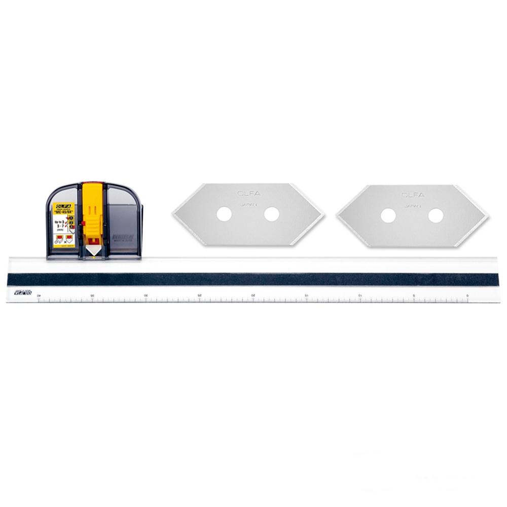 日本OLFA 豪華型45度角雙向斜口刀直線切割器