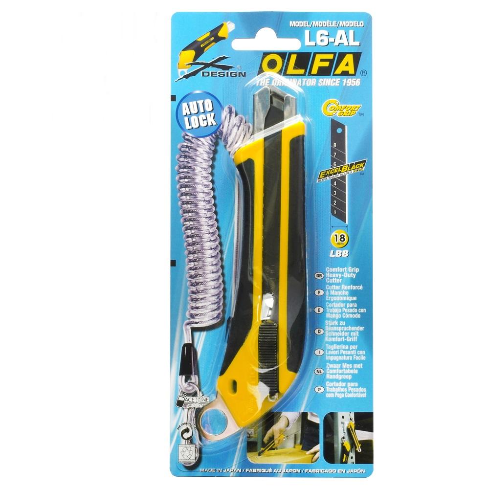 日本OLFA|抗滑X系列18mm黑刃大型美工刀切割刀L6-AL