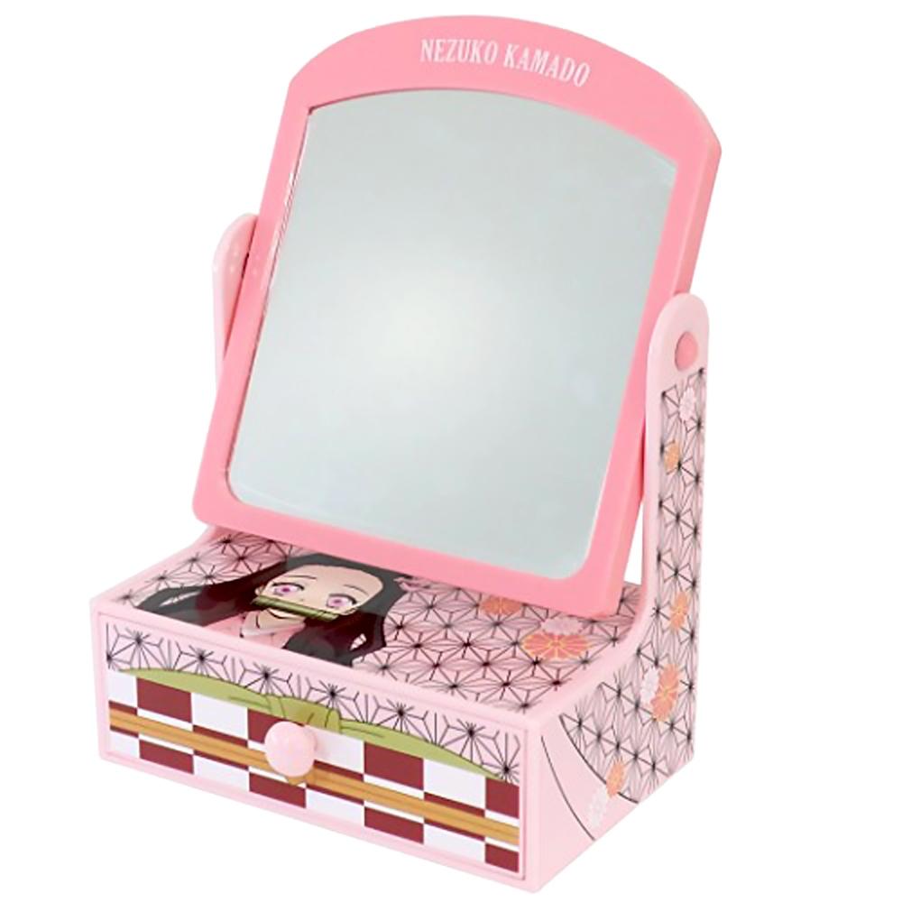 日本BANDAI萬代 鬼滅之刃竈門禰豆子化妝鏡粉紅可愛梳妝台