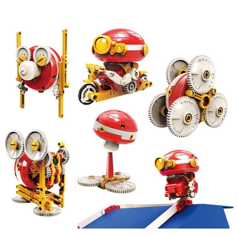 台灣Pro'sKit寶工 科學玩具6合1搖擺機器人陀螺儀