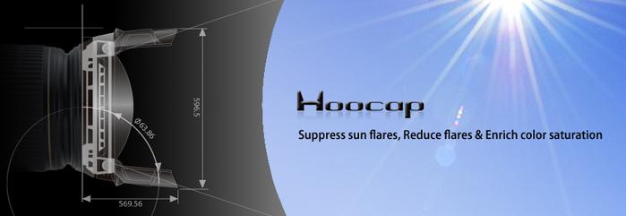 (複製)台灣HOOCAP|二合一鏡頭蓋兼遮光罩( 相容Panasonic遮光罩H-FS014042 ; M6652C )