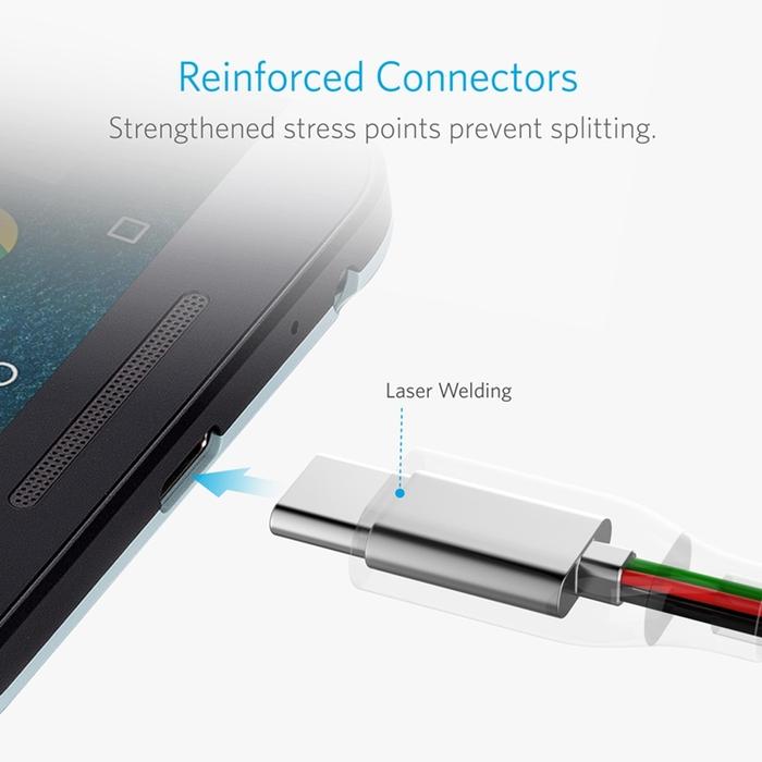 美國ANKER|PowerLine USB-C對USB 3.1充電傳輸線 ( 長6ft即1.8公尺 ; A81660系列 )