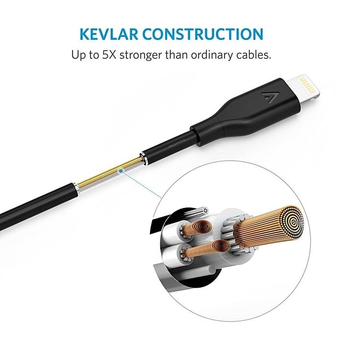美國ANKER|PowerLine Lightning傳輸充電線 ( 長10ft即3公尺 ; A81130系列 )