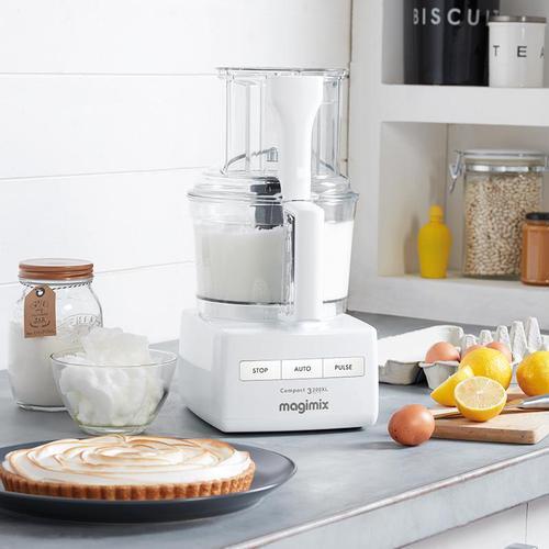 MAGIMIX|萬用食物處理機-5200L (贈冷壓蔬果機、電子料理秤、氣密盒三件組) 璀璨白