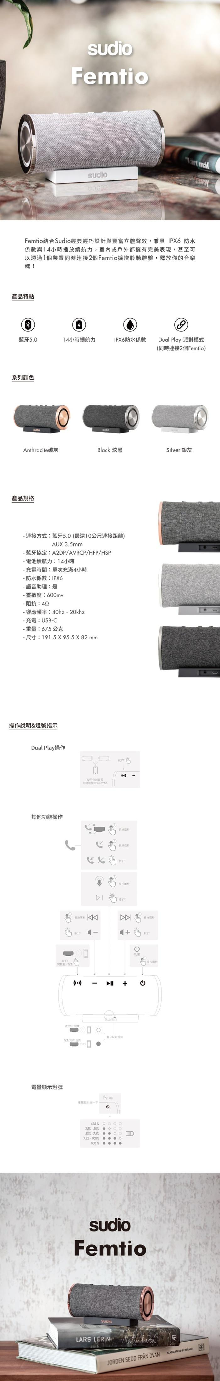 (複製)SUDIO|Fem 真無線藍牙耳機(藍)