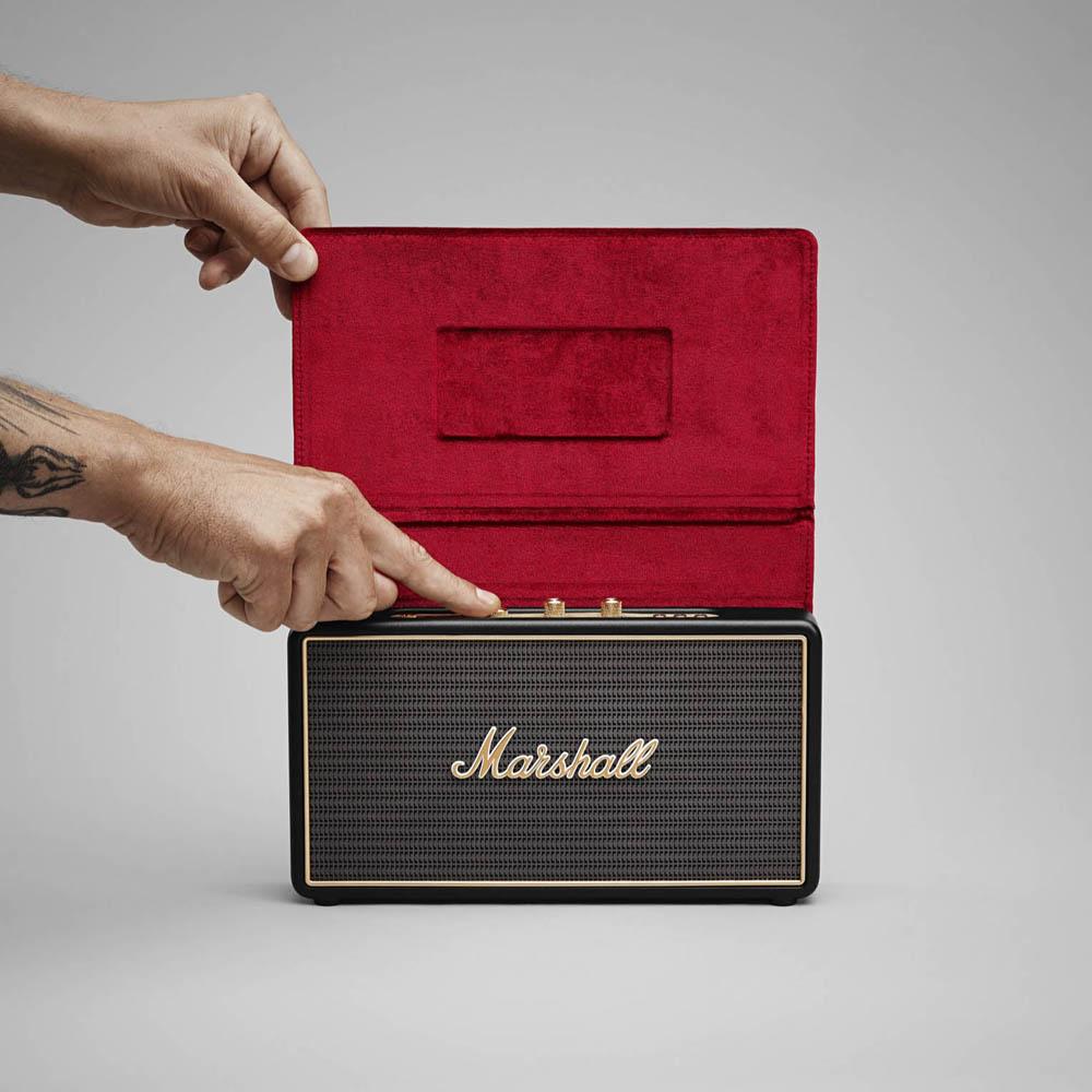 Marshall Stockwell 攜帶式藍牙喇叭- 經典黑(含皮套)