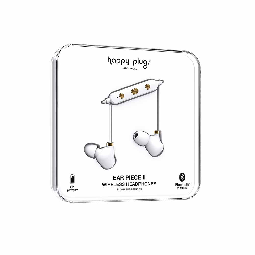 HAPPY PLUGS|Ear Piece II 藍牙墜飾耳道式耳機(白金)