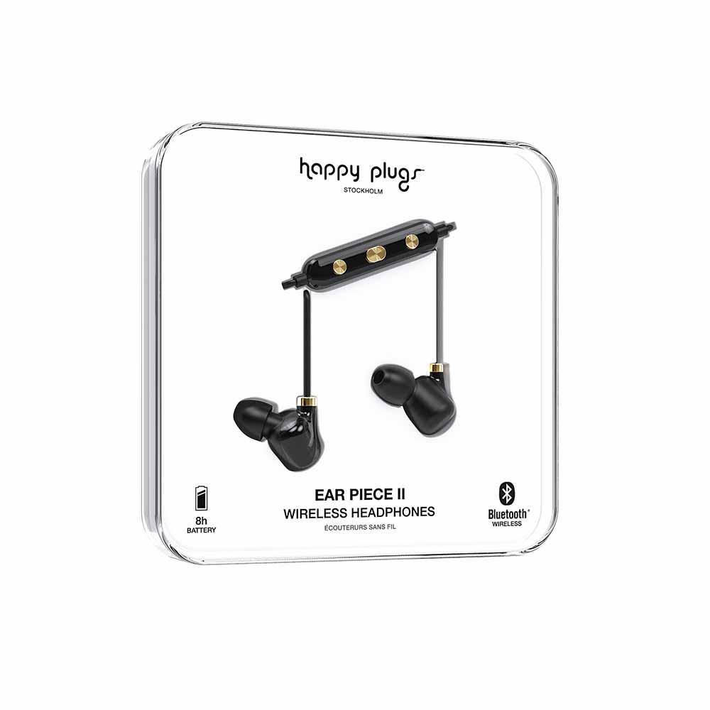 HAPPY PLUGS|Ear Piece II 藍牙墜飾耳道式耳機(黑金)