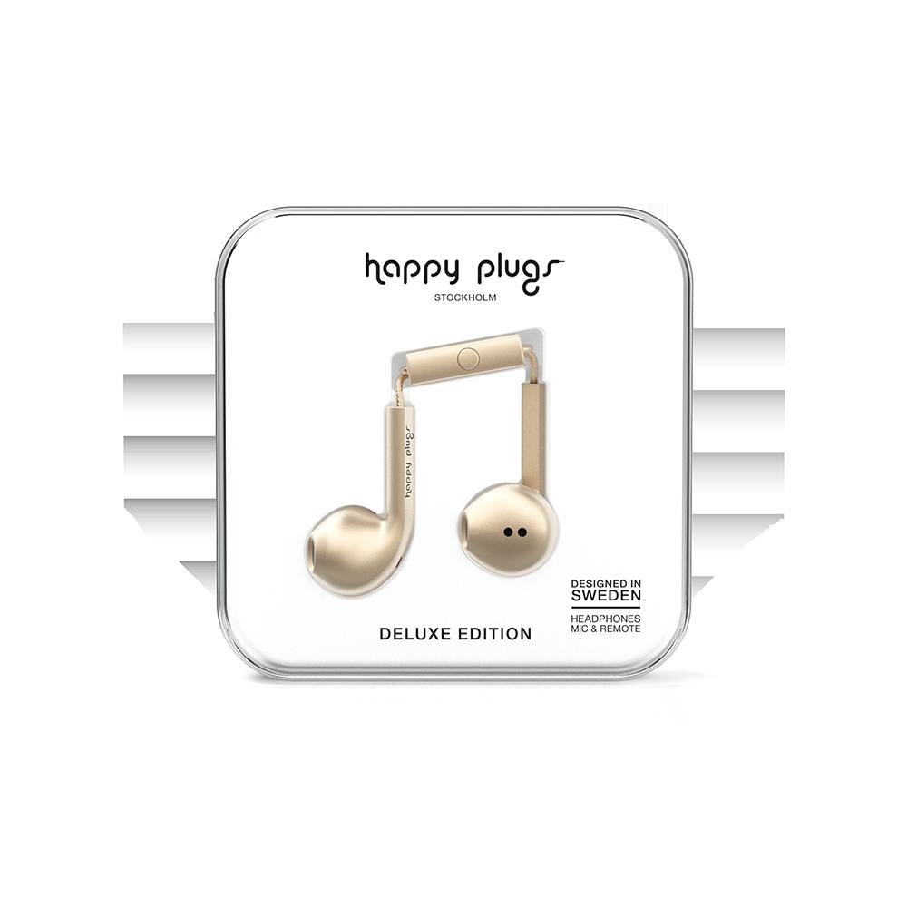 HAPPY PLUGS|Earbud Plus 極致耳塞式耳機(香檳金)