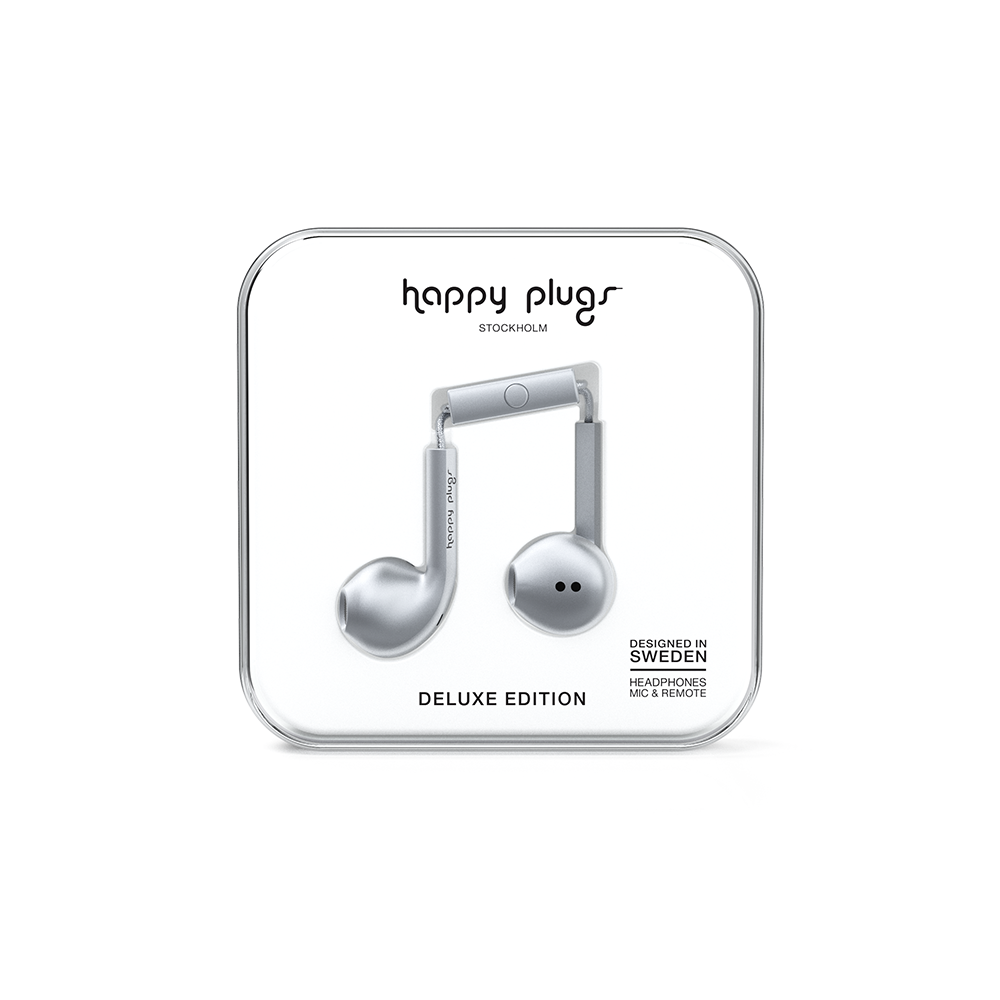 HAPPY PLUGS|Earbud Plus 極致耳塞式耳機(太空灰)