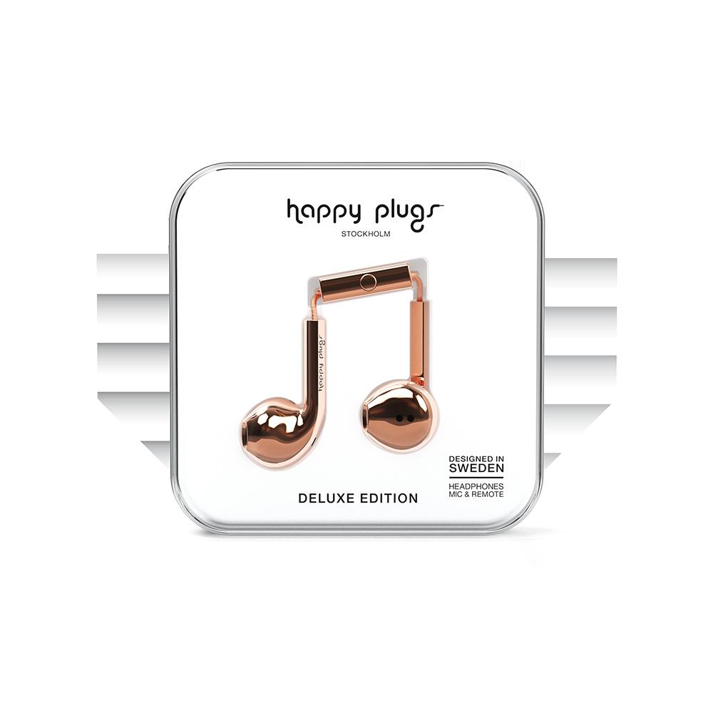 HAPPY PLUGS|Earbud Plus 極致耳塞式耳機(玫瑰金)