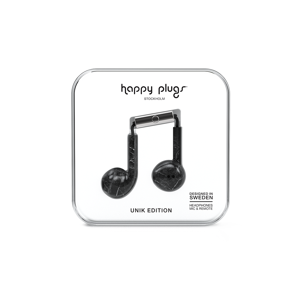 HAPPY PLUGS|Earbud Plus 極致耳塞式耳機(黑大理石)