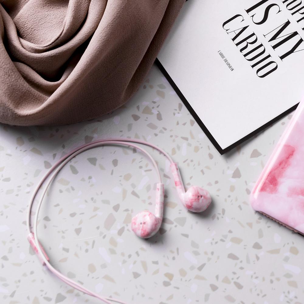 HAPPY PLUGS Earbud Plus 極致耳塞式耳機(粉色大理石)