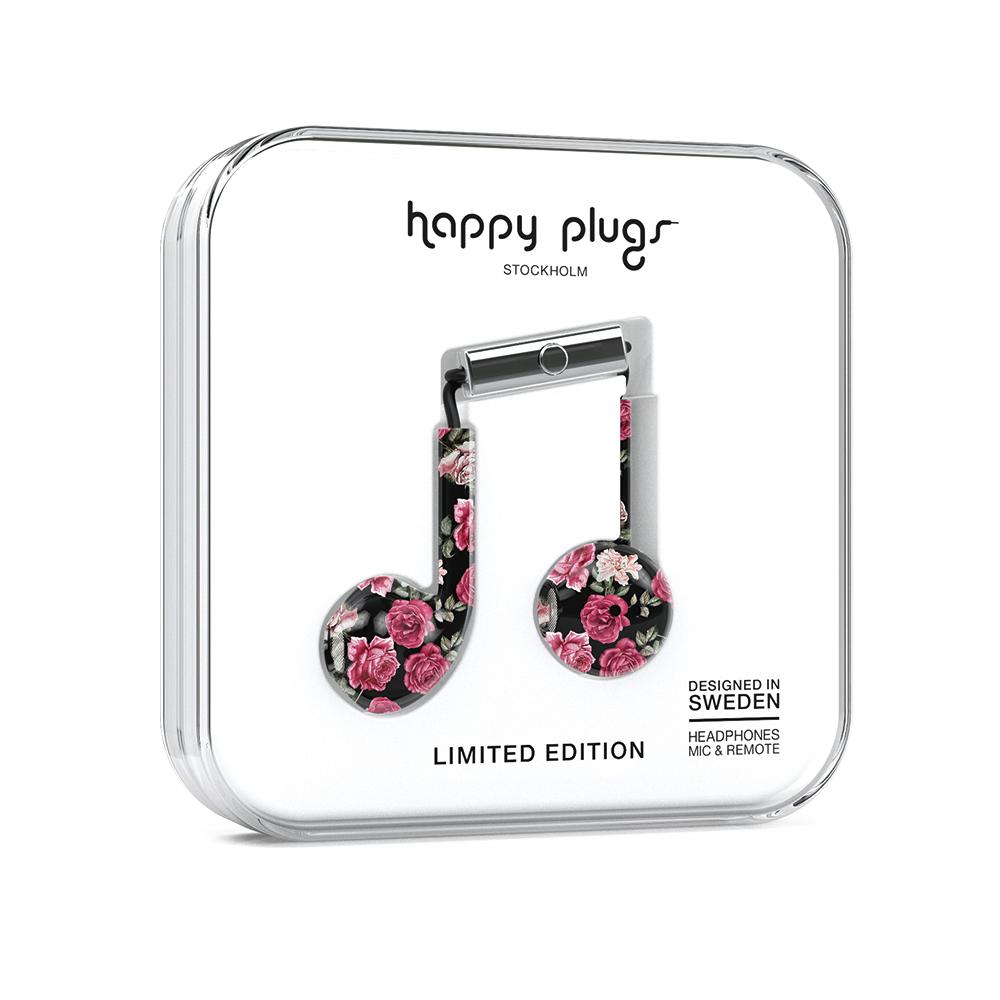 HAPPY PLUGS|Earbud Plus 極致耳塞式耳機(Vintage Roses玫瑰懷舊情)