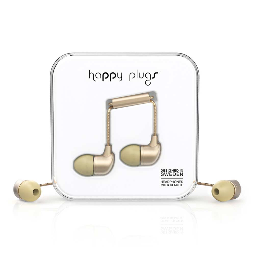 HAPPY PLUGS|In Ear 耳道式耳機(香檳金)