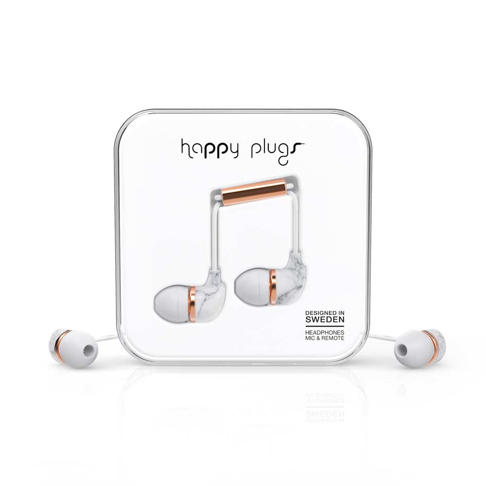HAPPY PLUGS|In Ear 耳道式耳機(白大理石)