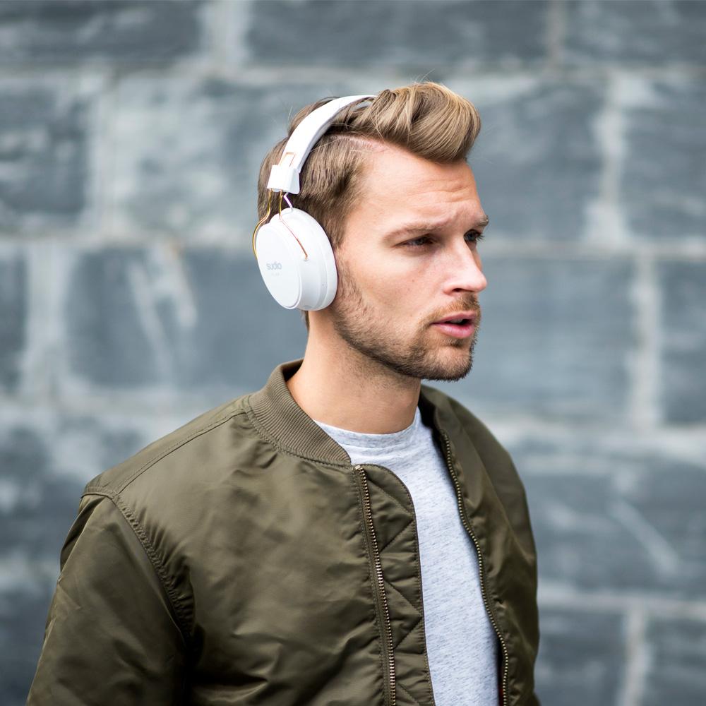 SUDIO|Klar 全罩式藍牙抗噪耳機(白)