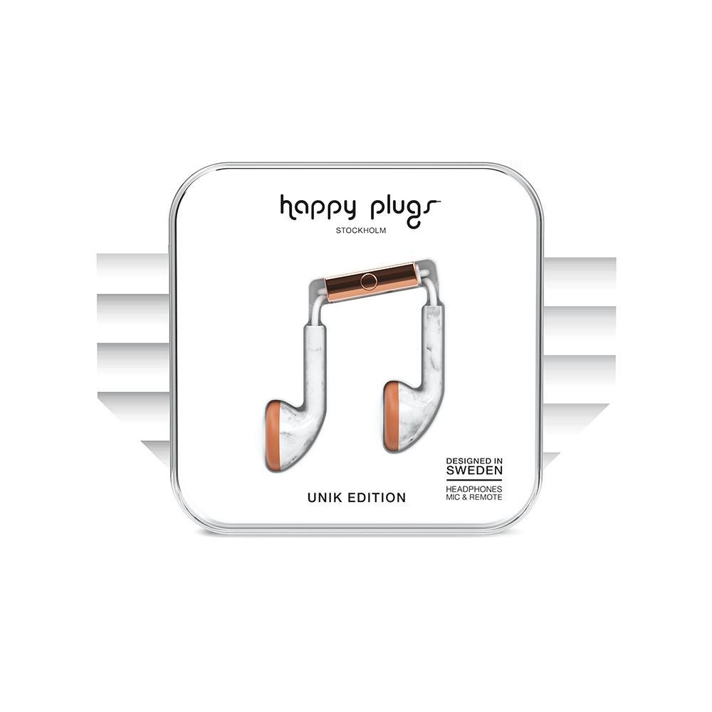 HAPPY PLUGS|Earbud 耳塞式耳機(白大理石)