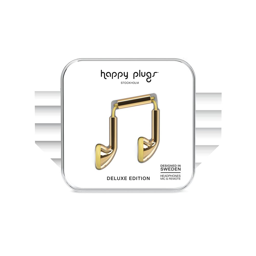 HAPPY PLUGS|Earbud 耳塞式耳機(金色)
