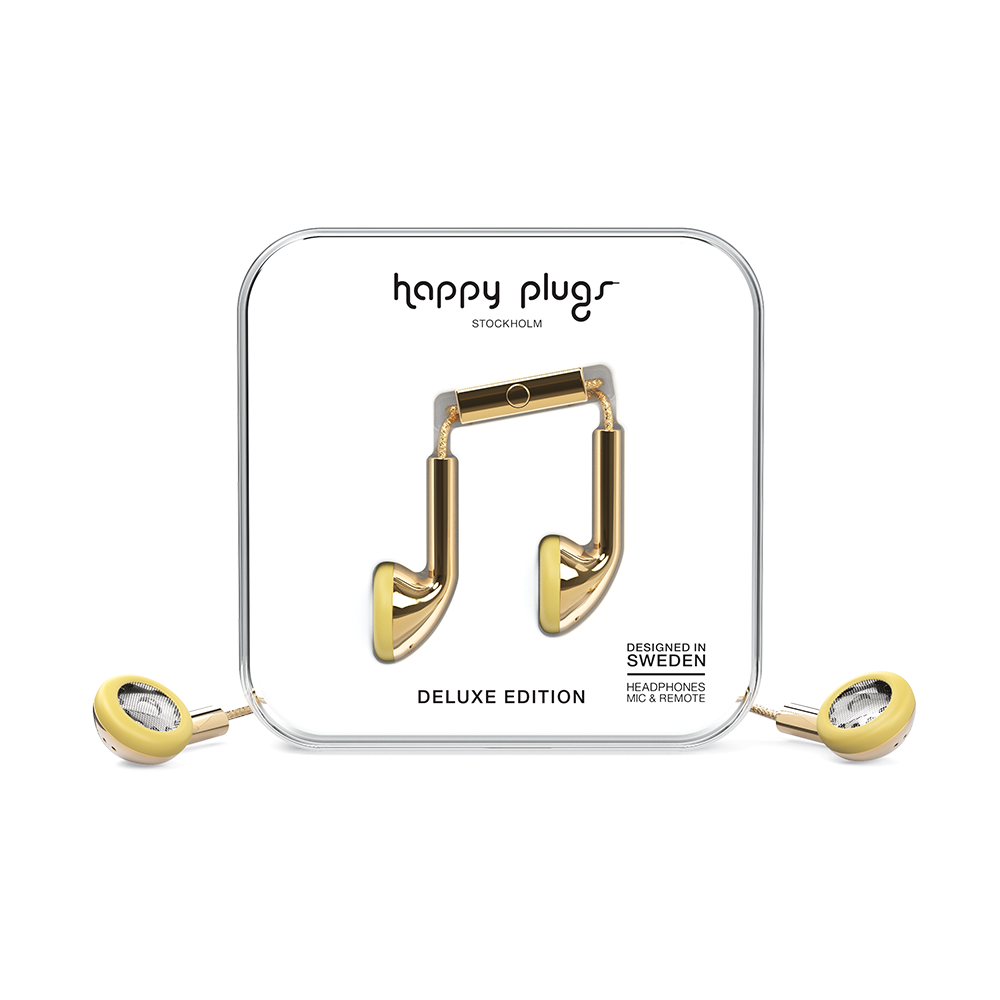 HAPPY PLUGS Earbud 耳塞式耳機(金色)
