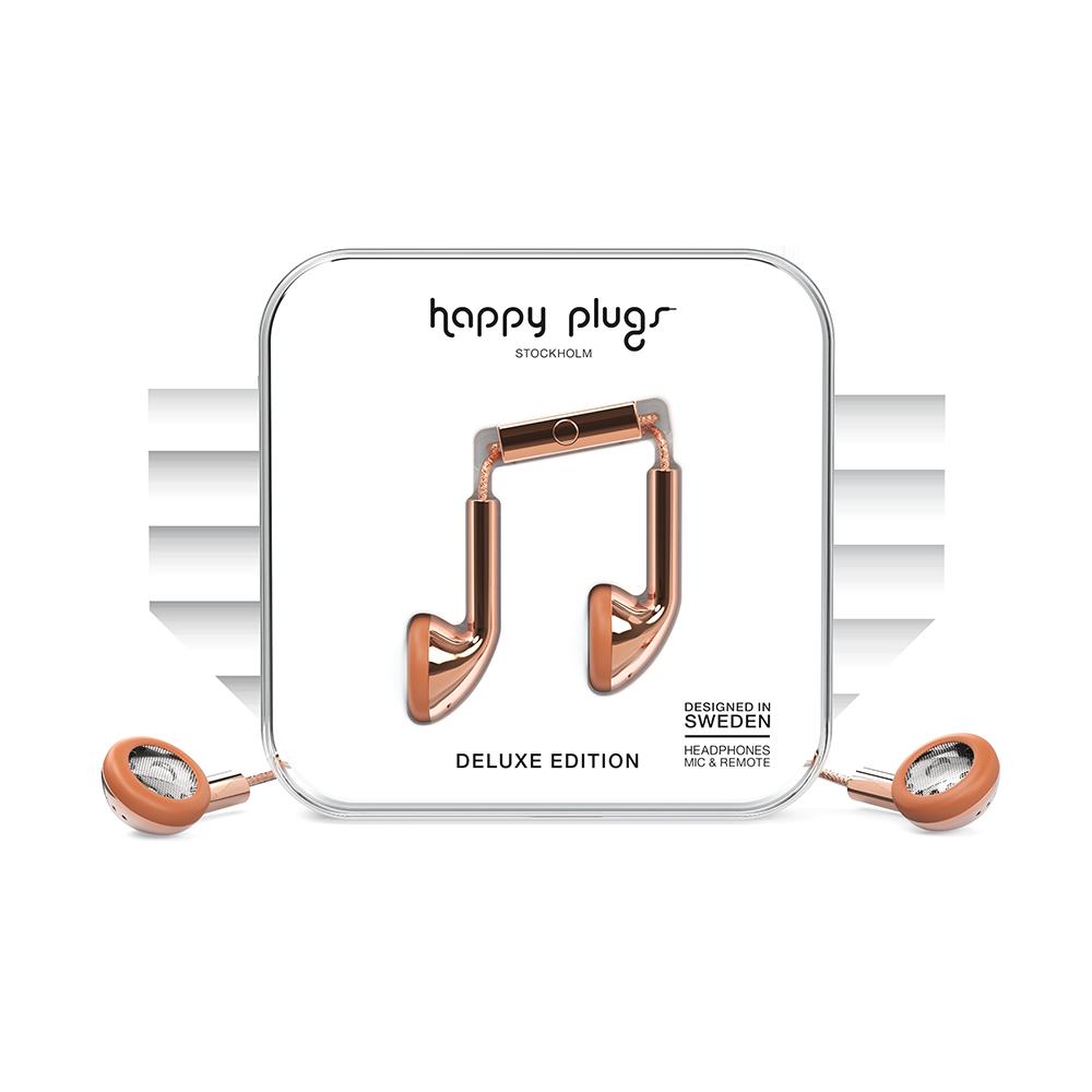 HAPPY PLUGS|Earbud 耳塞式耳機(玫瑰金)