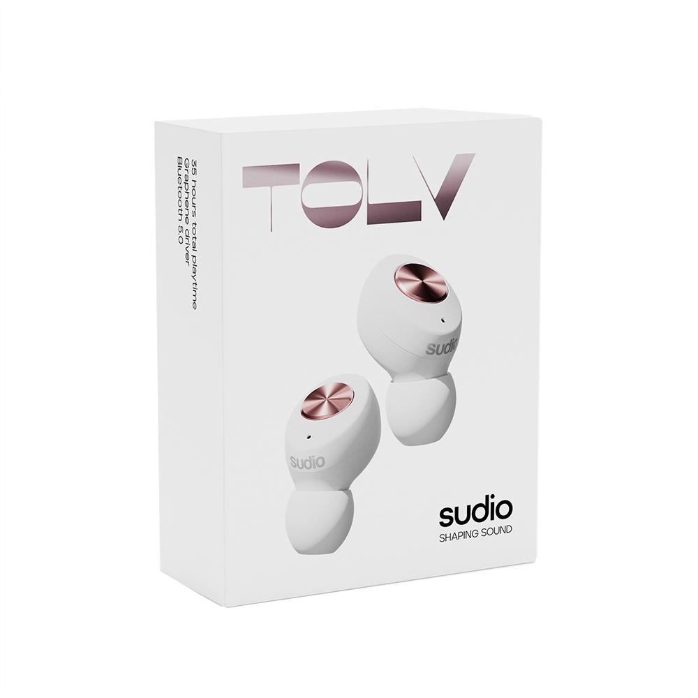 SUDIO Tolv真無線藍牙耳道式耳機(白)