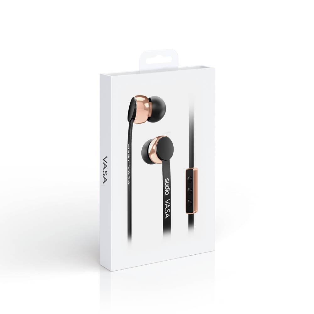 SUDIO|Vasa 耳道式耳機(Android系統專用)- 黑