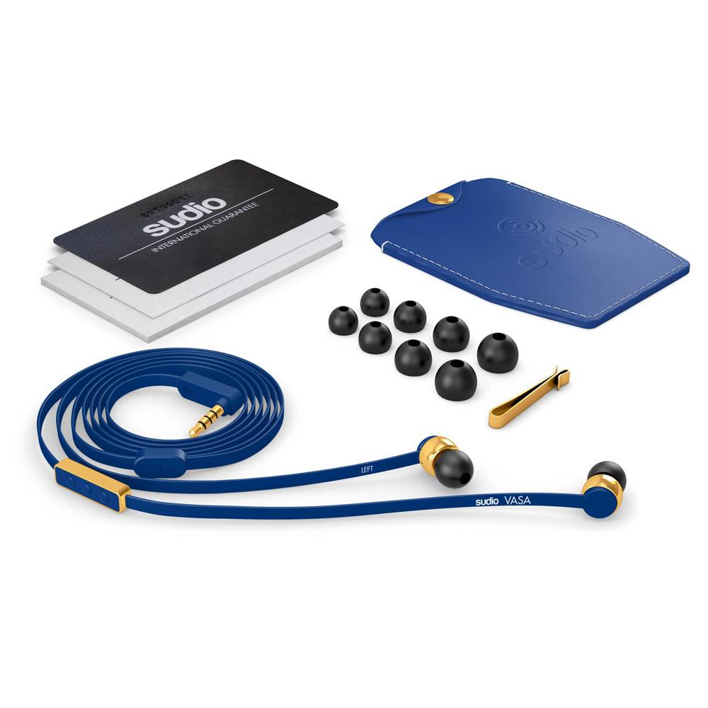 SUDIO|Vasa 耳道式耳機(iOS系統專用)- 藍