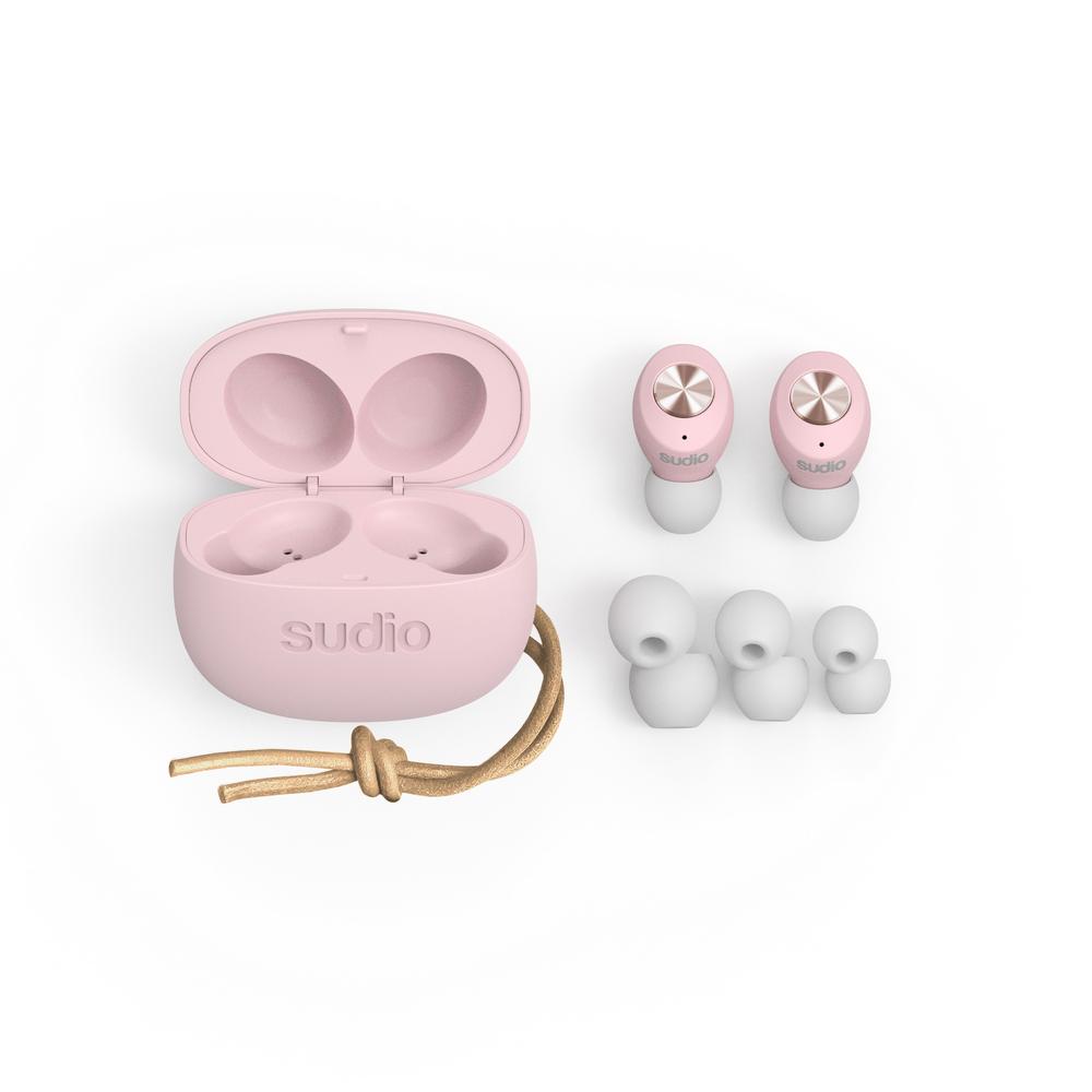 SUDIO|Tolv真無線藍牙耳道式耳機(粉色)