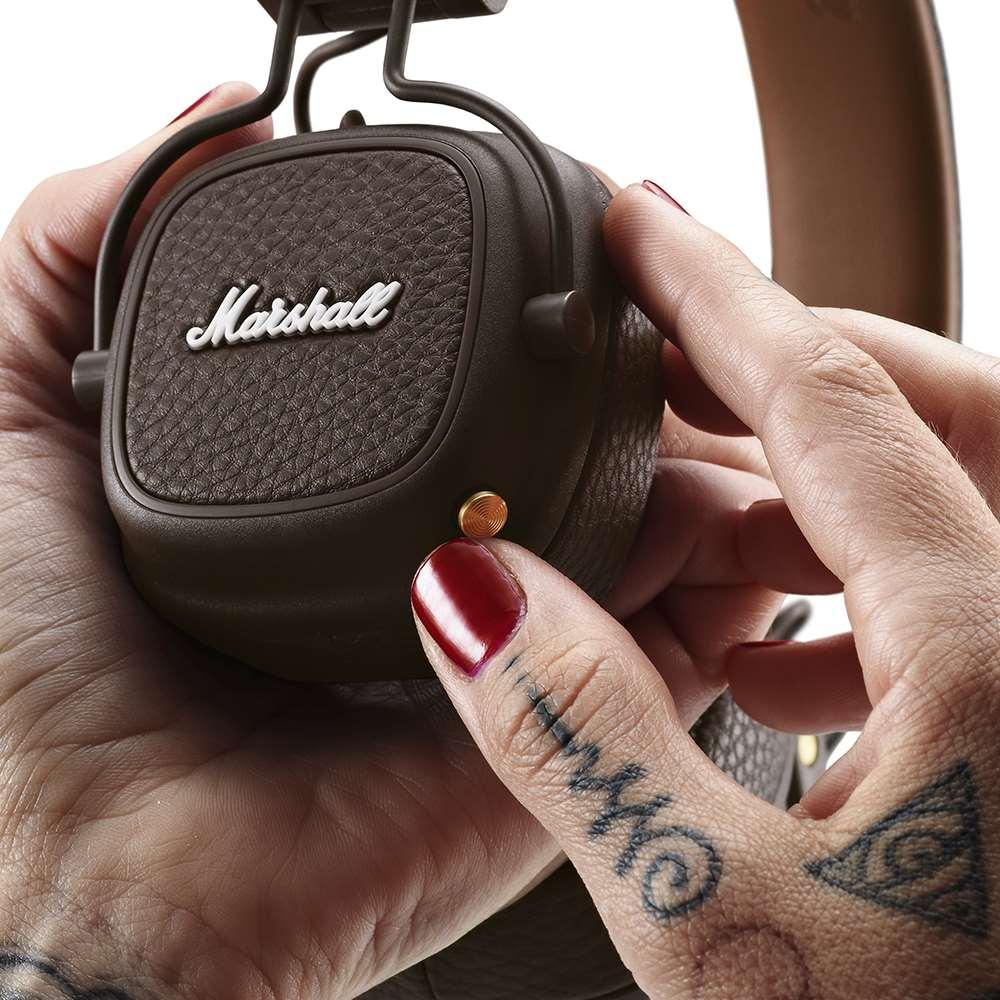 Marshall|Major III Bluetooth 藍牙耳罩式耳機 - 復古棕