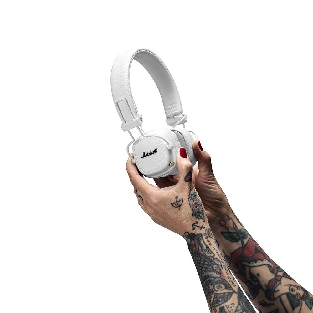 Marshall|Major III Bluetooth 藍牙耳罩式耳機 - 經典白