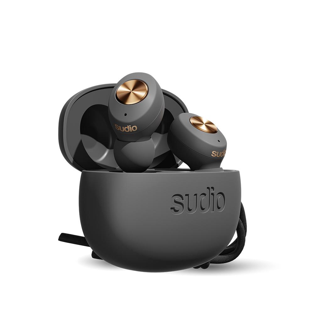 SUDIO|Tolv真無線藍牙耳道式耳機(碳灰色)