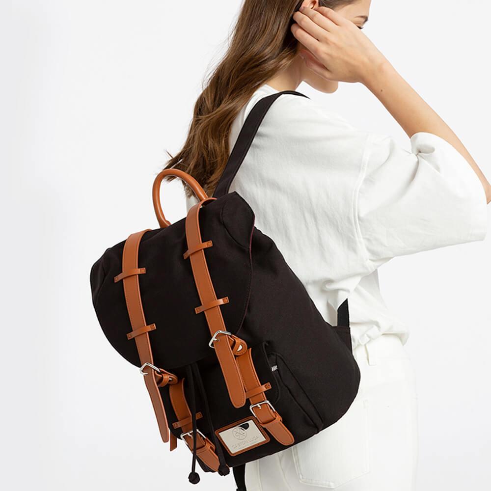 GASTON LUGA|Classic 經典後背包 經典黑/咖啡棕
