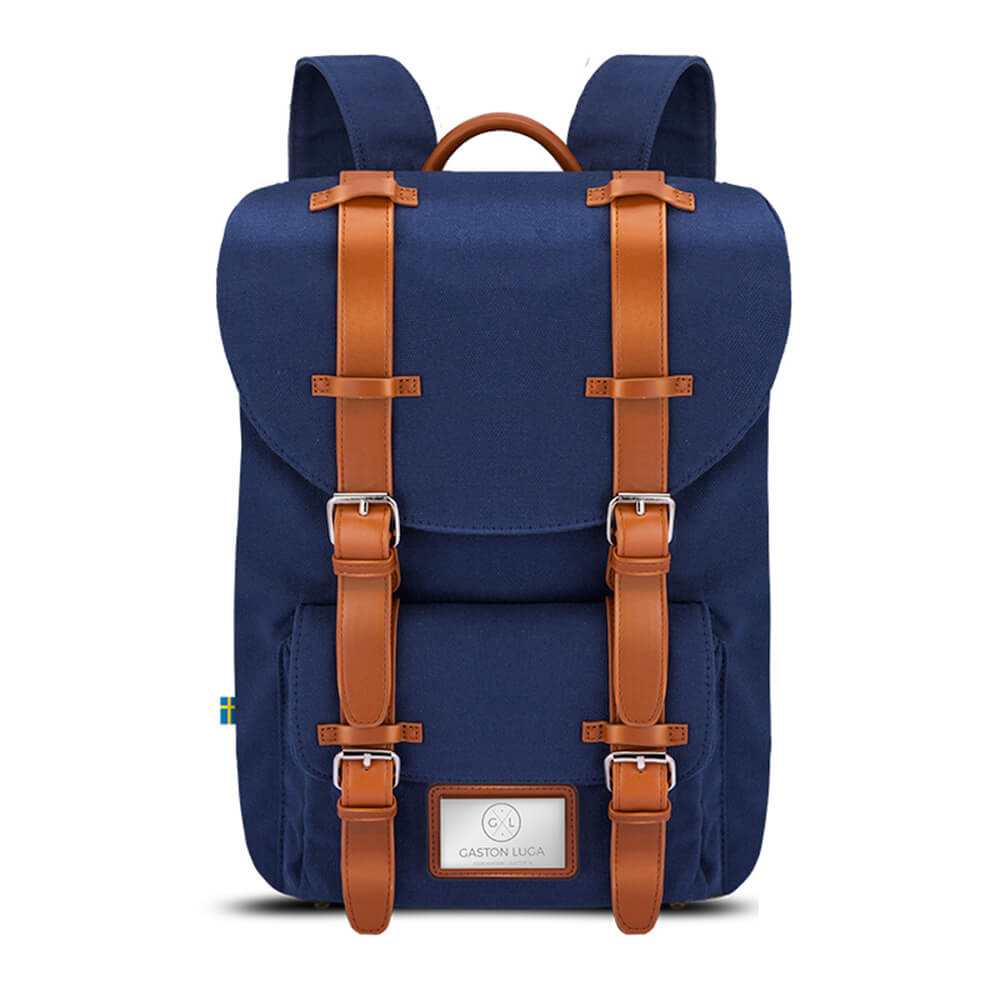 GASTON LUGA|Classic 經典後背包(海軍藍/咖啡棕)