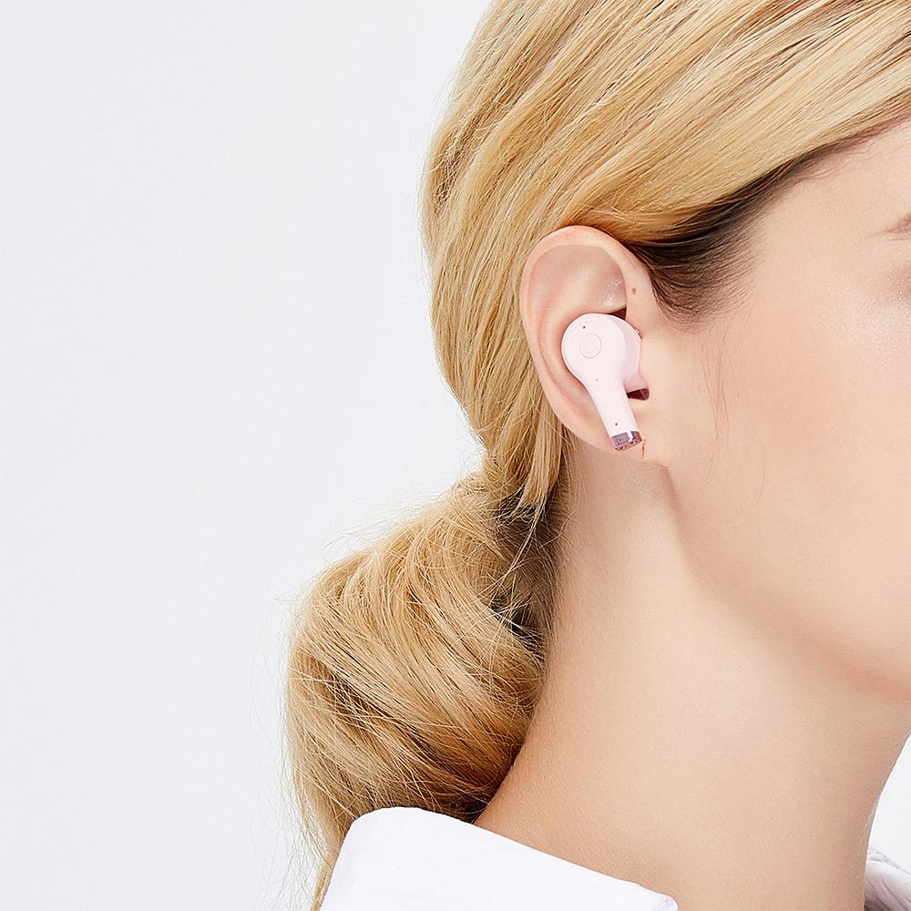 SUDIO|ETT 真無線抗噪藍牙耳機(粉)