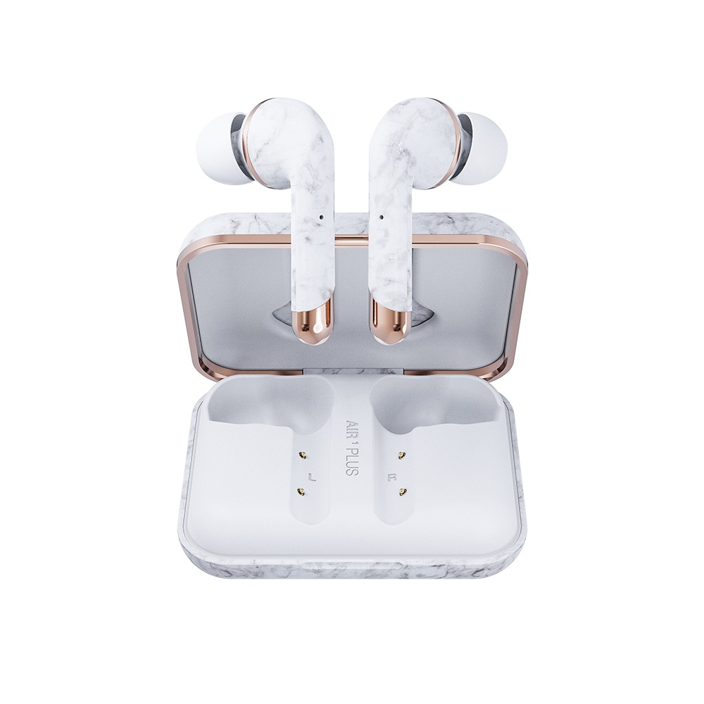 Happy Plugs|Air 1 Plus In-Ear 真無線藍牙耳道式耳機-白大理石 WhiteMarble