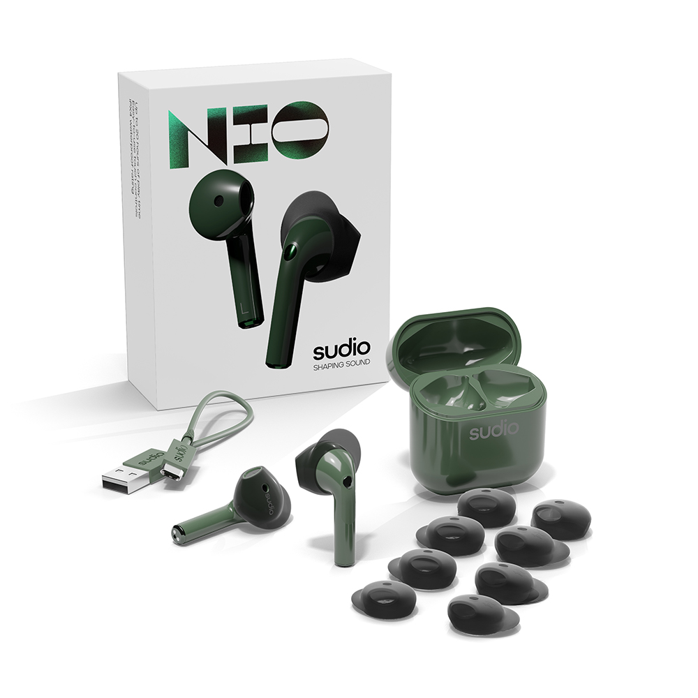 SUDIO|Nio 真無線藍牙耳機(綠色)