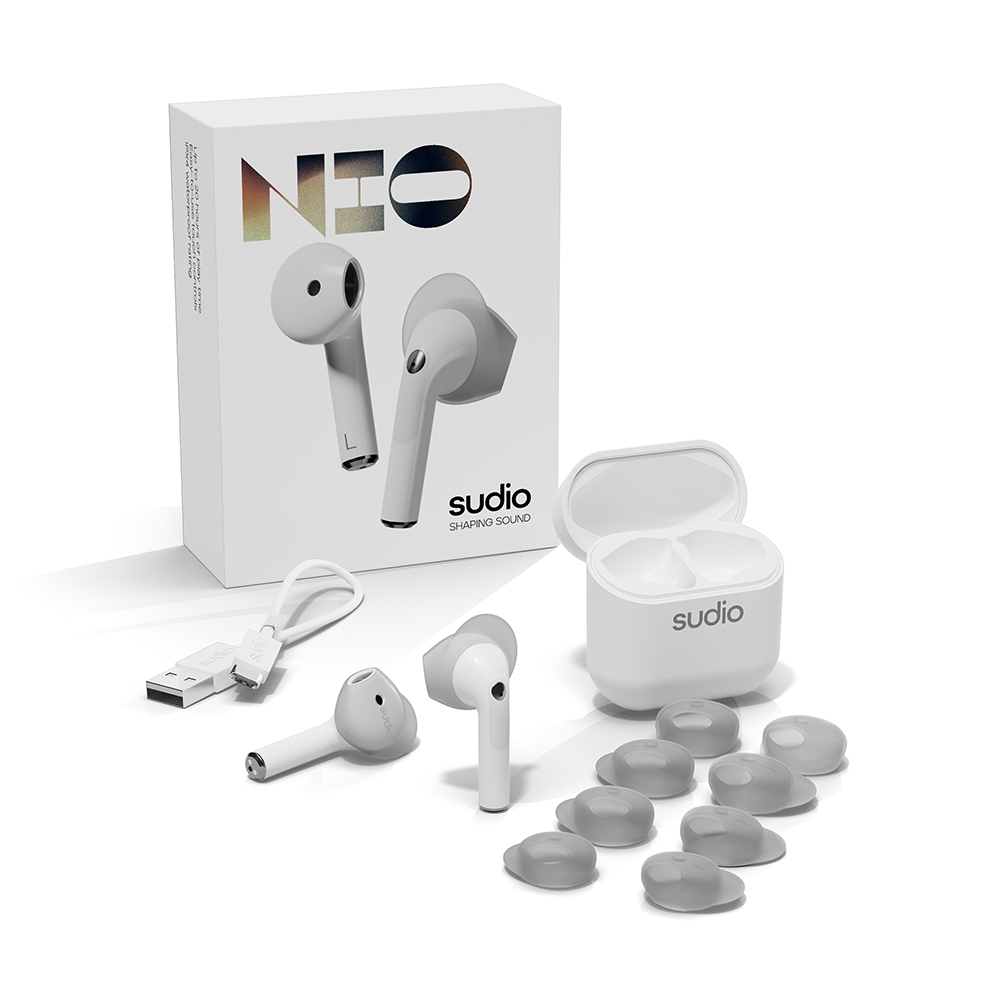 SUDIO|Nio 真無線藍牙耳機(白色)
