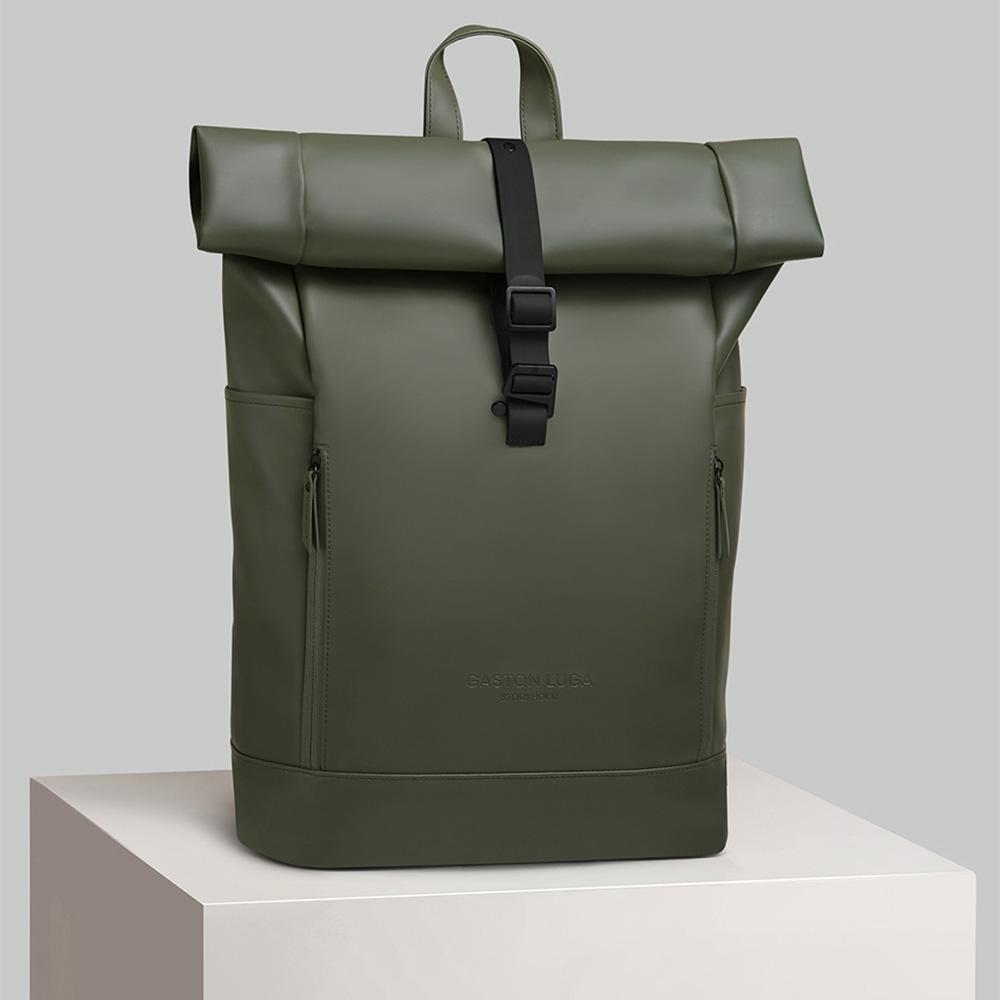 GASTON LUGA|Rullen防水個性後背包(橄欖綠)