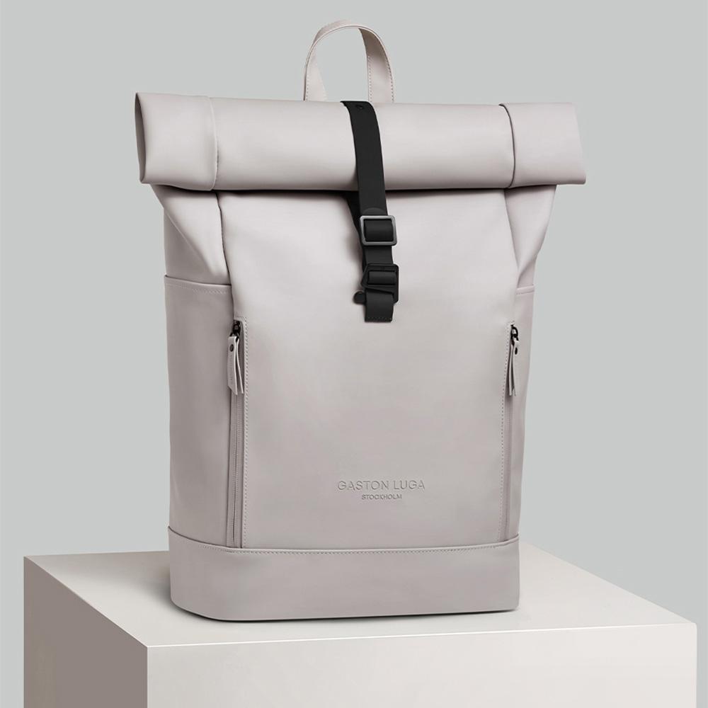 GASTON LUGA|Rullen防水個性後背包(灰褐色)