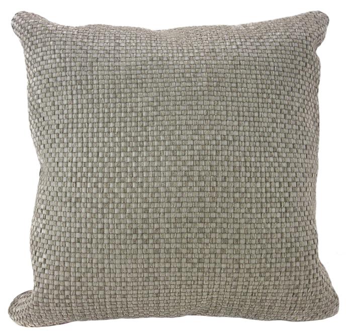 MULA DECO|編織皮抱枕 45x45cm (正面暖灰色+背面米色)