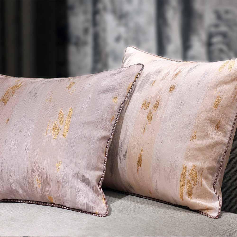 MULA DECO|義大利金銀蔥編織手工抱枕 50cm