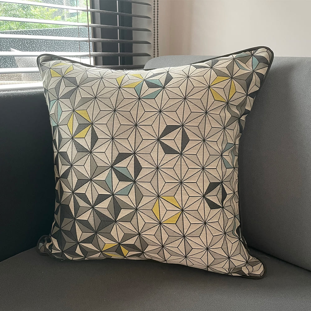 MULA DECO|現代幾何手工抱枕 45cm