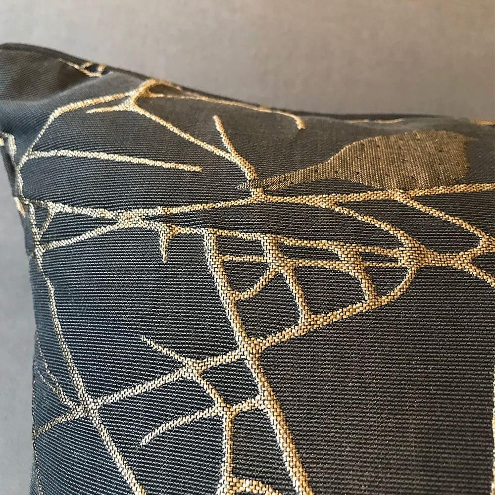 MULA DECO|義大利金屬絲提花手工抱枕 45cm