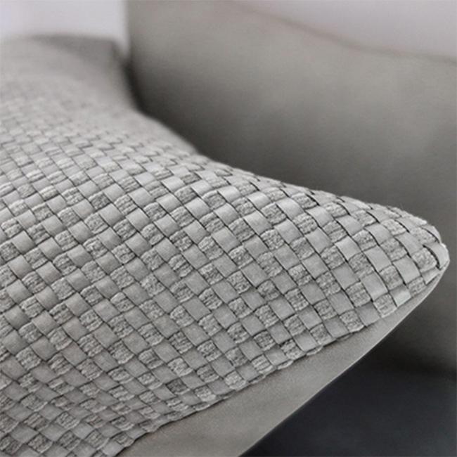 MULA DECO 編織皮抱枕 40x40cm