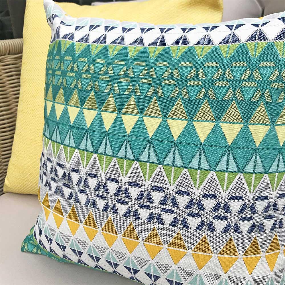 MULA DECO|色彩幾何手工抱枕 (花紋、單色黃2件組)